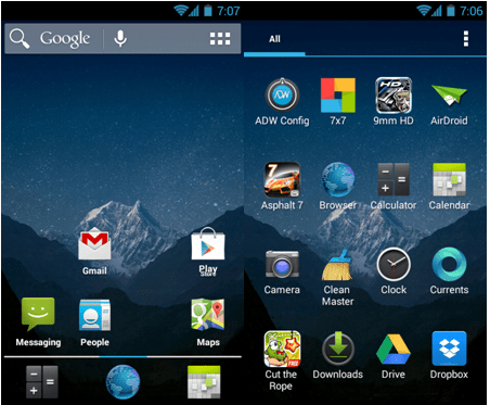ADW android launcher