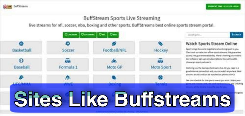 Best BuffStreams Alternatives For Live Sports Streaming in 2021